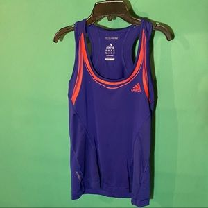 Adidas Climacool Formotion Blue Athletic Tank Top